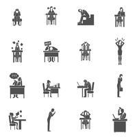 Conjunto de ícones de frustração