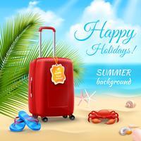 Fundo de férias realista vetor