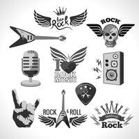 Conjunto de música rock vetor