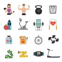 conjunto de plano de ginásio ícone