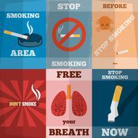 Fumar Mini Poster Set vetor