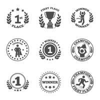 Primeiro lugar, ícones, jogo vetor