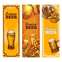 Vertical de Banner de cerveja vetor