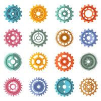 Conjunto de várias artes de cores de estilo vetor