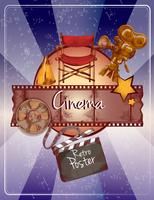 Cartaz de cinema de esboço