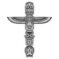 Ilustração Doodle Totem vetor