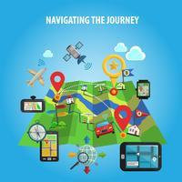 Navegando no conceito de jornada vetor