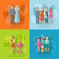 Família ícone plana