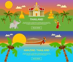 Incrível Tailândia Banners Set vetor