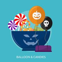 Balão & Doces Ilustração conceitual Design vetor