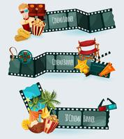Conjunto de Banners de Cinema vetor