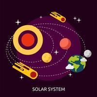 Ilustração conceitual do sistema solar Design vetor