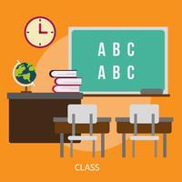 Ilustração conceitual de classe Design vetor