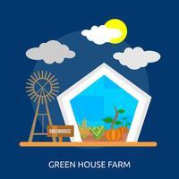 Casa verde fazenda ilustração conceitual Design