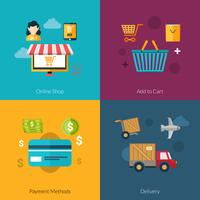 Conjunto de compras on-line