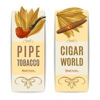 Conjunto de Banners de tabaco vetor