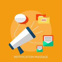 Massagem de Notificação Conceptual illustration Design vetor