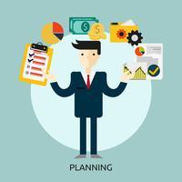Ilustração conceitual de planejamento Design vetor