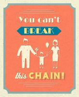 Poster retro de família vetor