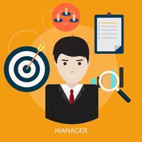 Ilustração conceitual de gerente Design