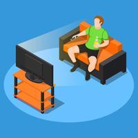 Assista alguma composição de TV vetor