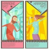 Bilhetes de festa de karaoke vetor