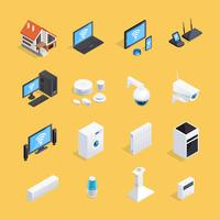 Conjunto de ícones isométrica casa inteligente