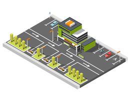 composição de estacionamento centro comercial