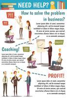 Treinamentos de Negócios e Fluxograma de Coaching vetor