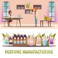 Conjunto de Banner de loja de perfumes vetor