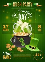 Cartaz do dia de Saint Patricks