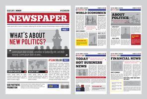 Modelo de design de jornal vetor