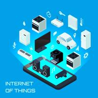 Internet das coisas conceito de Design isométrico