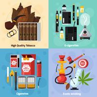 Fumar 2x2 Design Concept Plano vetor
