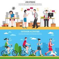 Stress E Banners De Relaxamento vetor