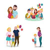 Presente de família dando conjunto