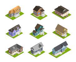 Conjunto de casas de cidade vetor
