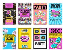 Emblema de moda emblemas Banner Set