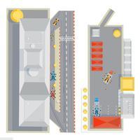 Composição plana de pista de corrida vetor