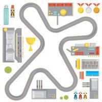 Composição da pista de corridas de jogos vetor