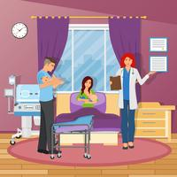 Composição plana do hospital de maternidade vetor