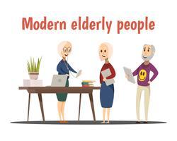 Composição de pessoas idosas modernas vetor
