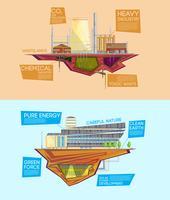 Banners planos de vantagem da indústria de resíduos ecológicos