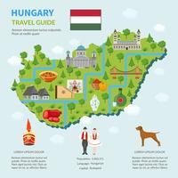 Mapa Infográfico da Hungria vetor