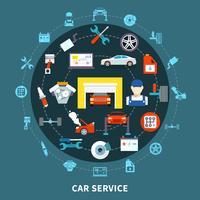Conceito de Design Auto Service vetor
