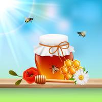 Composição colorida mel vetor
