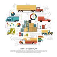 Ilustração de caminhões de entrega