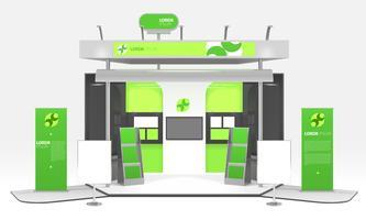 Projeto de estande de exposição de energia verde vetor