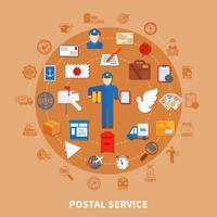 Projeto redondo de comunicação postal