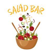 Ilustração em vetor de barra de salada